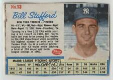 1962 Post #13 Bill Stafford New York Yankees Baseball Card