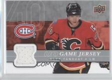 2008 Upper Deck UD Game Series 1 Jersey #GJ-AT Alex Tanguay Calgary Flames Card