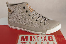 Mustang Lace up Sneakers Low Shoes beige, Rubber sole 1146 NEW
