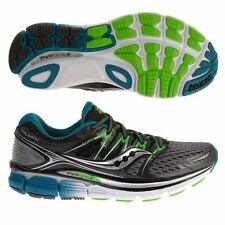 MENS SAUCONY TRIUMPH ISO Mens Running Shoes Grey Black Green Blue White