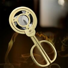 Golden COHIBA Stainless Steel 3 blades Cigar Scissors Cutter New Gift Boxed