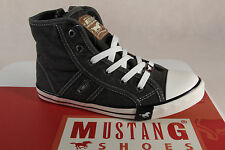 Mustang Fabric Lace up Sneakers Low Shoes black, Rubber sole 5803 NEW