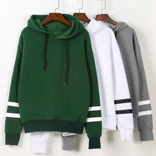 Womens Long Sleeve Sweatshirt Hoodie Jumper Hooded Pullover Tops Blouse Coat