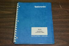 Tektronix Manual 7D15 Universal Counter/Timer Instruction Manual w/diagrams