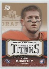 2011 Topps Rising Rookies Gold 165 Colin McCarthy Tennessee Titans Football Card