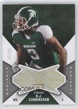 2012 SPx Finite Rookies Radiance F-BC BJ Cunningham Michigan State Spartans B.J.