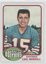 1976 Topps #93 Earl Morrall Miami Dolphins Football Card