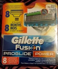 Gillette Fusion Proglide Power Razor Blades 4 - 8 razor blade cartridges.