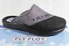 Fly Flot Men's Slipper, Textile fabric, grey/ black, Footbed 882057 NEW