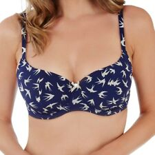 Lilly By Lepel Swallow Print Navy Underwired Moulded Balconette Bra 32-38, C-FF