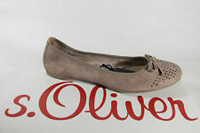 s.Oliver Ballerina Slippers Court shoes beige grey, Leather insole, Suede NEW