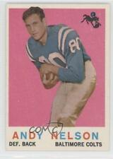 1959 Topps #62 Andy Nelson Baltimore Colts RC Rookie Football Card