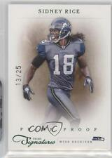 2011 Panini Prime Signatures Proof Green #157 Sidney Rice Seattle Seahawks Card