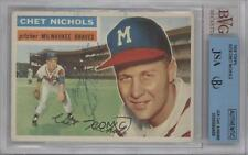 1956 Topps #278 Chet Nichols AUTHENTICATED Milwaukee Braves Baseball Card