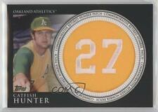 2012 Topps Manufactured Retired Number Patch #RN-CH Catfish Hunter Baseball Card