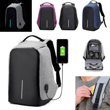 Unisex Anti-Theft Backpack Laptop USB Port Charger Travel Oxford School Bags NEW