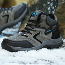 Fur Lined Mens Plus Size Snow Hiking Boots High Top Running Sports Outdoor Shoes