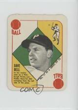 1951 Topps Red Backs #17 Dave Bell Pittsburgh Pirates RC Rookie Baseball Card