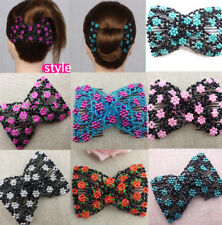Magic Hair Slide Easy Double Beads Stretchy 2 x Hair Comb Clips