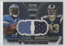 2011 Bowman Sterling Box Topper Dual Relic #BSDR-YP Titus Young Austin Pettis