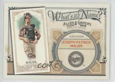 2012 Topps Allen & Ginter's What's in a Name? #WIN71 Joe Mauer Minnesota Twins