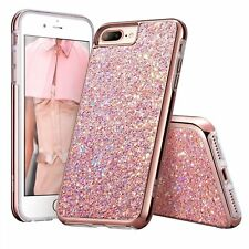 Bling Glitter Sparkle Dual Layer Shockproof TPU Skin Cover Case for iPhone 6 7 +