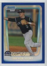 2011 Bowman Draft Picks & Prospects Chrome Blue Refractor #BDPP84 Trevor Story