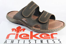 Rieker Mules Mules Clogs Slippers Brown Faux Leather NEW