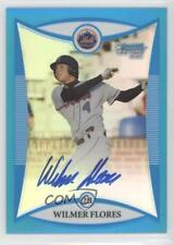 2008 Bowman Draft Picks & Prospects #BDPP111 Wilmer Flores New York Mets Auto