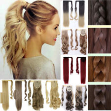 Real Silky Remy Hair Extensions Wrap Around Ponytail as Human Clip One Piece AP3