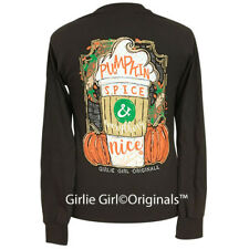 "Girlie Girl Originals ""Pumpkin Spice"" Dark Chocolate Long Sleeve T-Shirt"