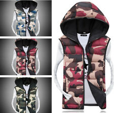 Men's Fall Slim Fit Hoodie Warm Vest Coat Jacket Fashion Camouflage Couple Top