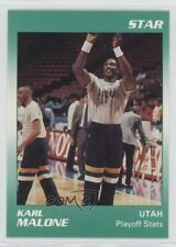 1990-91 Star #3 Karl Malone Utah Jazz Basketball Card