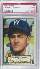 1952 Topps 2.1 James Runnels (Pete Runnels) (Red Back) PSA 2 Pete RC Rookie Card