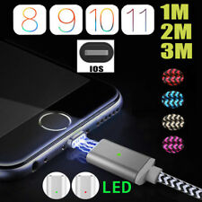 1M 2M 3M Magnetic USB Data Sync Charger Cable For iPhone 5 5s SE 6 6S 7 8 Plus X