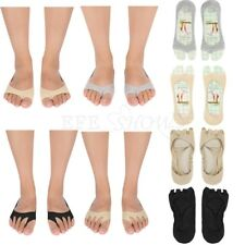 2Pairs/Lot Women Girl  Invisible Peep-Toe Shoes Open-Toed Non-Slip Low Cut Socks
