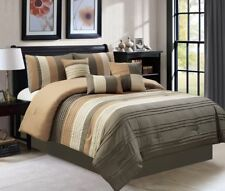 11 Piece Ghazi Chocolate/Taupe Bed in a Bag Set