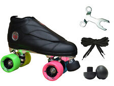 New! Epic Skates Black Evolution Rainbow Quad Roller Jam Speed Skates