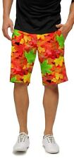 LOUDMOUTH shorts FALL AND OAKS mens GOLF FLAT FRONT  2751