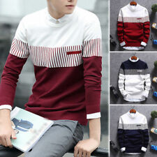 Mens Fashion Cardigan Jacket Jumper Men Knit Pullover Coat Long Sleeve Sweater