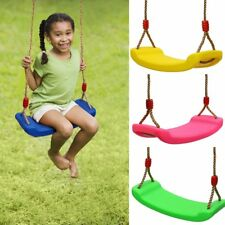 Child Swing Seat Blow Moulded Outdoor Plastic Adjustable Rope Length Swing Gift