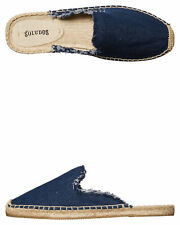 New Soludos Women's Frayed Womens Mule Blue