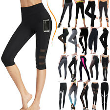 Women High Waist YOGA Leggings Trousers Fitness Gym Sports Running Pants US01