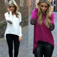 Round Neck Loose Tops Casual Blouse Fashion Womens Long Sleeve Shirt
