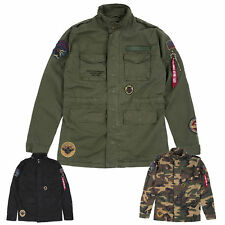 Alpha Industries Men's Jacket Huntington Patch M65 FIELD ARMY S to 3XL NEW