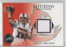 2008 Press Pass Legends Saturday Swatches SS-BB Brian Brohm Louisville Cardinals
