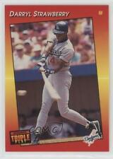 1992 Donruss Triple Play Preview #2 Darryl Strawberry Los Angeles Dodgers Card