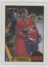 1987-88 O-Pee-Chee #232 Guy Carbonneau Montreal Canadiens Hockey Card