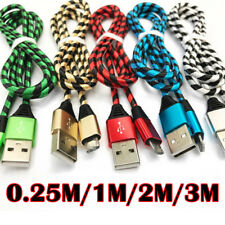 Strong Braided USB Data Sync Charger Cable Lead Adapter For iPhone 5 6 7 Plus