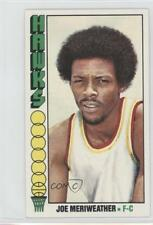 1976-77 Topps #37 Joe Meriweather Atlanta Hawks RC Rookie Basketball Card